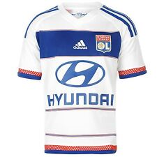 Adidas Olympique Lyon Home Jersey 2015 2016 Juniors White/Royal Football Soccer