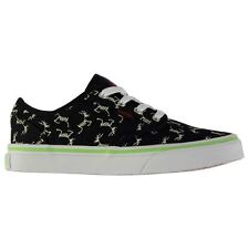 Vans Childrens Atwood Glow in the Dark Canvas Laces Fastened Shoes Boys Footwear