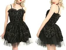 XL New Hell Bunny Gothic Black Victorian Tulle Party Punk Formal Cocktail Dress