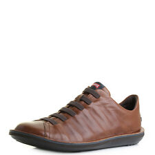 Mens Camper Beetle Brown Leather Lace Up Casual Shoes Sz Size
