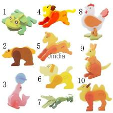Kids Wooden 3D Puzzle Pad Puzzles Children Learning Toy Animal Pattern