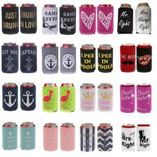 1 Pair Bar Beer Soda Tin Cooler Chilling Neoprene Wrap Wedding Party Accessory