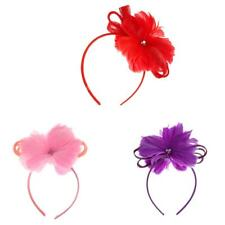 Women Headpiece Feather Fascinator Headband Cocktail Wedding Party Church Hat