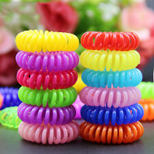 20pc Candy Colored telephone line Hair Ring Accessories Rope Spring Rubber Band
