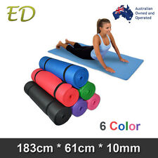Brand New Free Postage Extra Thick 10MM Nonslip NBR Yoga Gym Pilate Mat 6 Colors