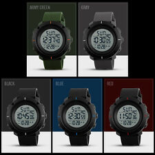 Fashion Mens Rubber LED Digital Date Military Quartz Casual Sport Wrist Watch