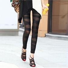 Chic Women Mesh Gothic Legging Black Punk Rock Elastic Cross Bandage Pants