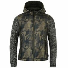 Lee Cooper Mens Gents Knit Camouflage Jacket High Neck Hood Zipped Clothing