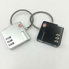 TSA Approve Luggage Suitcase Travel 3-Dial Combination Wire Padlock-Black/Silver