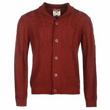 Lee Cooper Mens Gents Shawl Neck Cardigan Button Front Long Sleeve Clothing