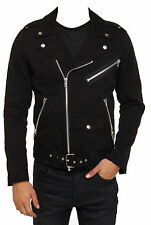 "Men""s RIP MOTORCYCLE GOTH BAND GOTHIC MILITARY MOTO BIKER PUNK COAT JACKET"