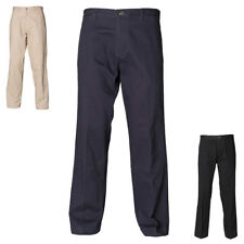 New HENBURY Mens Teflon Coated Flat Front Chino Trousers 3 colours 30 - 44 R/L