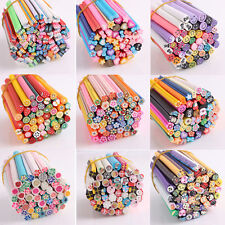 Fashion 50PCS Fruit Nail Art Fimo Canes Rods Sticks Stickers Tips 3D Decoration