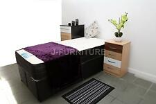 Plain Single 2ft6/3ft Divan Bed In Black Colour And Mattress Of Your Choice!