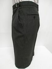 Mens Hickory Striped Morning Trousers Flat Front Vintage Victorian Tuxedo Pants