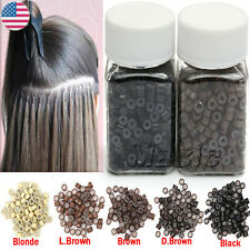 Any Colors 5x3x3mm Micro Rings Beads/Links for Stick/I Tip Hair Extensions 5A US