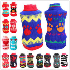 Small Dog Sweater Pet Clothing Puppy Clothes Pajamas chihuahua yorkie Schnauzer