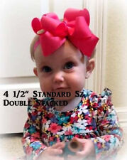 Boutique Hairbow, Girls Hair Bows, Double Hair Bows, Big Bow, Lot Set of 10 bows