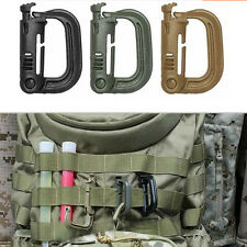 Molle Tactical*Backpack EDC Shackle Snap D-Ring Clip KeyRing New Carabiner  0826