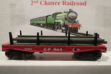 O Scale Trains Lionel CP Rail Flat Car 30580 with I beams