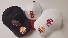 NEW SC Trojans Flex S/M Red, White, or Black Hat NCAA Authentic USC Appearal Cap