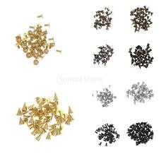 50 Sets Cone Spikes Screwback Studs DIY Craft Rivets Black/Gold/Bronze/Silver