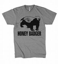 Honey Badger Animal Web Video Hit Funny Graphic T-Shirt Grey Men's Tee S-XXXL
