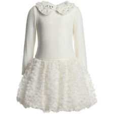 ~WAY GLAM~ BISCOTTI KATE MACK NEW IVORY EMBELLISHED COLLAR TULLE DRESS 24 MS NWT