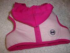 PINK Stripe Hooded Wrap Dog Body Harness M Pup Crew Pet No choke free medium new