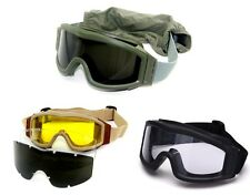 Tactical Military Police Shooting Airsoft Eye Protective Goggles 3 Lens