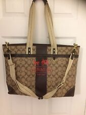 Coach Diaper Bag Brown W/Changing Pad and Dust Cover No L0773-11768