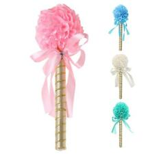 Wedding Favor Flower Ribbon Wand Guest Book Signing Ball Pen Table Decor 4colors