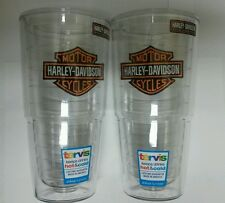 Tervis Tumbler Harley Davidson Motorcycles Bar & Shield 24 oz Pair W/ Lids