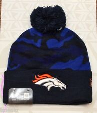 NEW ERA NFL DENVER BRONCOS BLUE CAMO CUFF KNIT BEANIE HAT ONE SIZE ADULT