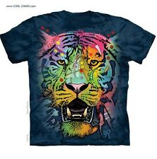 Neon Tribal Tiger T-Shirt/Tie Dye Tee,Rainbow Graffiti,Dean Russo Wildlife Art