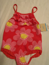 CARTERS Baby Girls Size 18 Month Floral Swimsuit Diaperless Liner Swimwear NWT