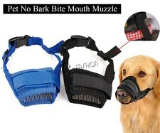 Nylon Dog Muzzle,  Mesh Adjustable Guardian Gear Mouth Grooming No Bite Bark