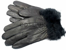 NEW WOMENS SOFT GENUINE LEATHER GLOVES FLEECE LINED FUR THINSULATE WINTER WARM