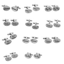 Wedding Gifts Fashion Mens Shirt Cufflinks Oval Silver Cuff Links Accessories