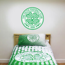 Celtic Football Club One Colour Crest Wall Sticker Official Merchandise Decal