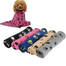Various Soft Pet Dog Fleece Bed Mat with Lovely Paw Pattern Warm Blanket Towel
