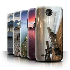 STUFF4 Phone Case/Back Cover for HTC Desire 300 /English Seaside