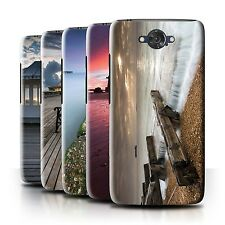 STUFF4 Phone Case/Back Cover for Motorola Moto Maxx /English Seaside