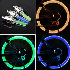 New Bike Car Motorbike Neon LED Tire Tyre Wheel Spoke Valve Flash Light Dust Cap