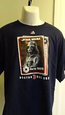 NWT MLB Men's Boston Red Sox/Darth Vader Navy SS Baseball Card Tee: Size M & XL