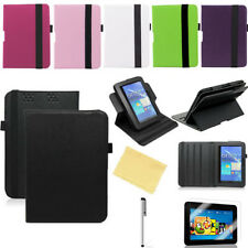 """360 Rotating Leather Smart Sleep/Wake Case Stand for Amazon 7""""1st Kindle Fire HD"""