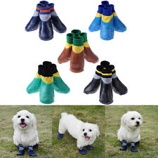 Pet Boots Socks Dog Cat Waterproof Rain Shoes Non-Slip Rubber Puppy Paws Cover A