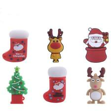 Christmas Santa Snowman USB 2.0 Flash Memory Stick Pen Drive Storage 4GB-16GB