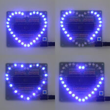Hot DIY Kit Heart-shaped LED Red Blue Colorful Light Water Electronic BE