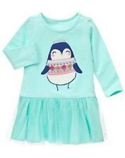 NWT Gymboree ENCHANTED WINTER 2T 3T 4T 5T Penguin Tulle Dress NEW